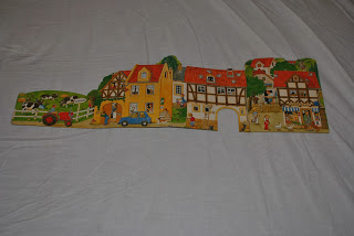 Spielzeug Dorf, carte pop-up