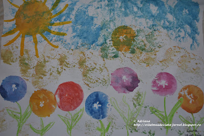 flori stampilate