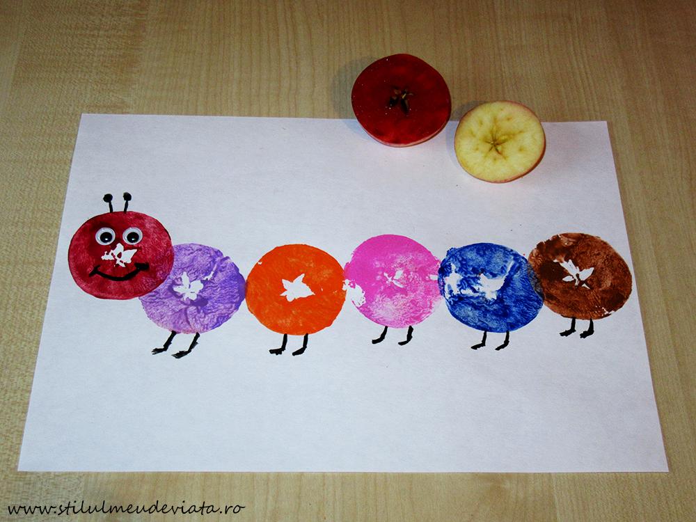 omidă, ștampilă din măr