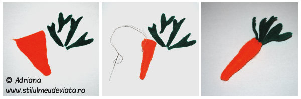 collage morcov din fetru