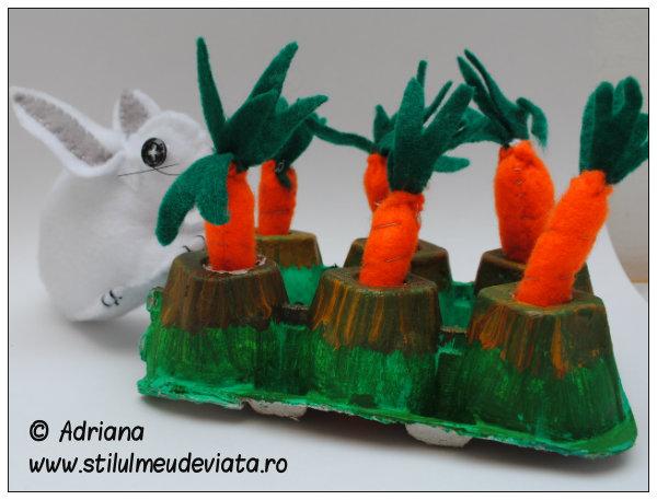 morcovi din fetru