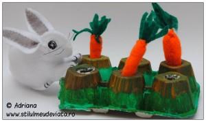 iepuras si morcovi din fetru
