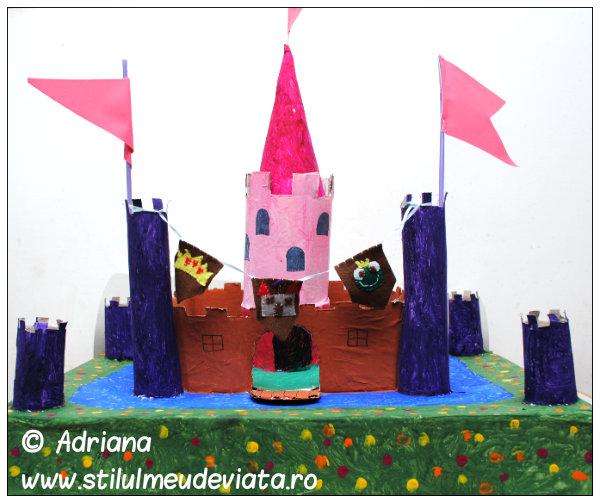 castel din materiale reciclate