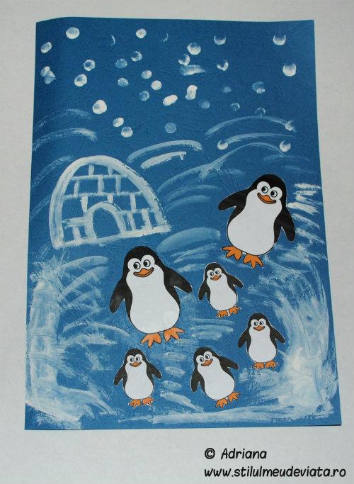 colaj pinguini