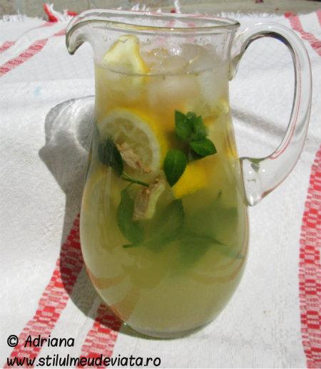 limonada cu miere si ghimbir