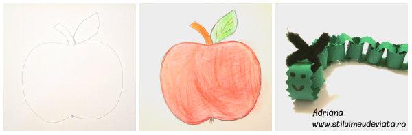 mărul şi omida