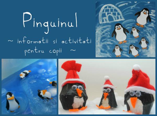 pinguinul, informatii si activitati pentru copii