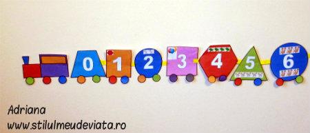 trenuletul cifrelor, al formelor geometrice si al culorilor