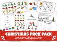 FREE Christmas PreK Pack