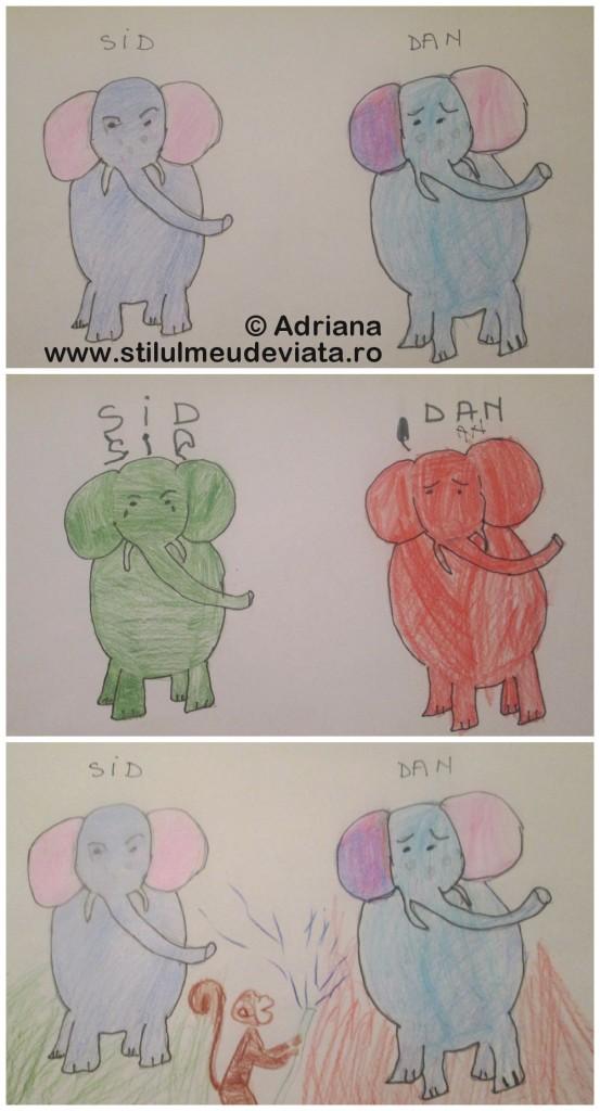 colaj elefanti