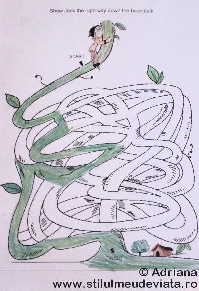 labirint Jack si vrejul de fasole
