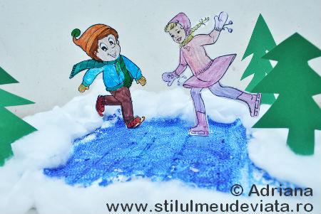 Sporturi de iarnă - patinajul pe gheață
