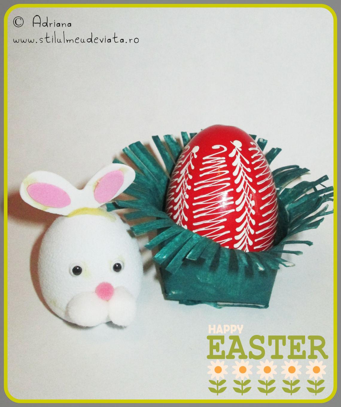 ou roșu rătăcit prin iarba