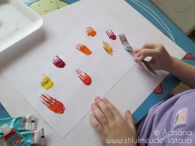 lalele pictate cu furculita