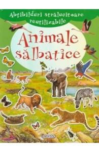 Animale salbatice (carte cu abtibilduri)