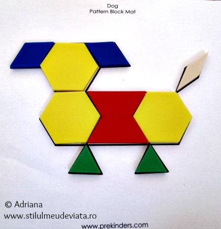 catel din piese tangram