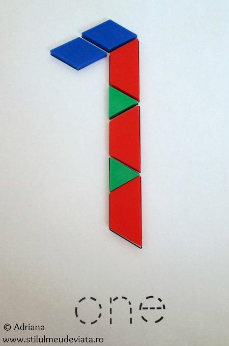 cifra 1 din piese tangram