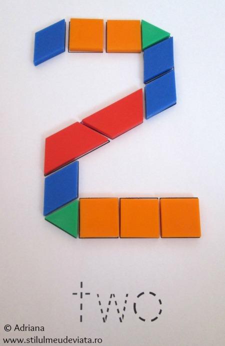 cifra 2 din piese tangram
