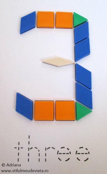 cifra 3 din piese tangram