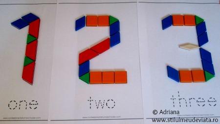 cifre din piese tangram
