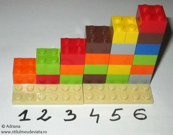 cifrele si piesele de lego