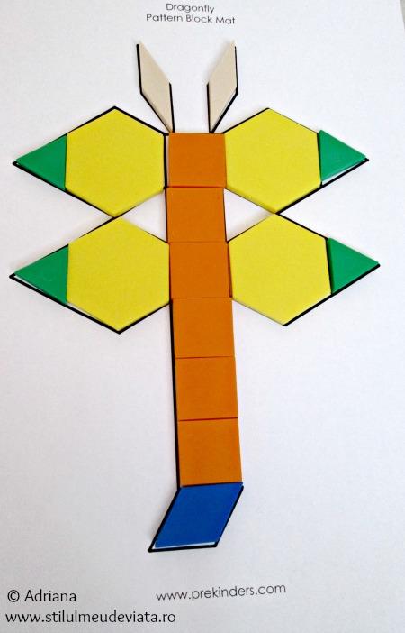 libelula din piese tangram
