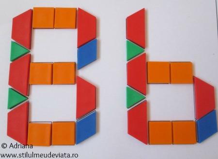 litera B din piese tangram