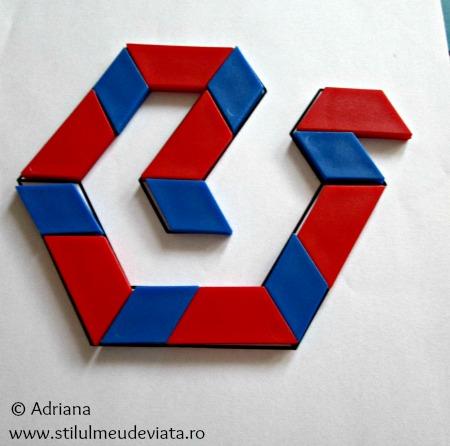 sarpe din piese tangram