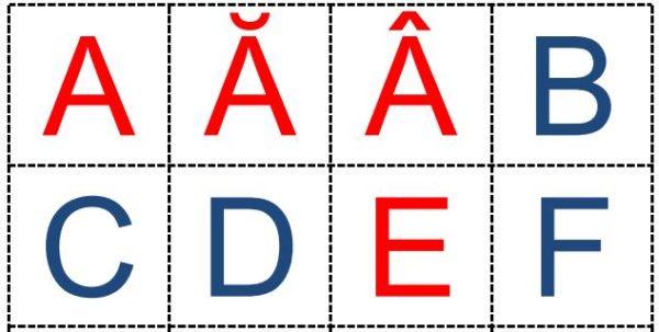 Alfabetul - cartonașe cu literele mari de tipar