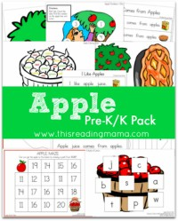 FREE Apple Pack for Pre-K/K Learners