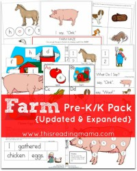 FREE Farm PreK/K Pack