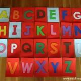 litere tactile mari