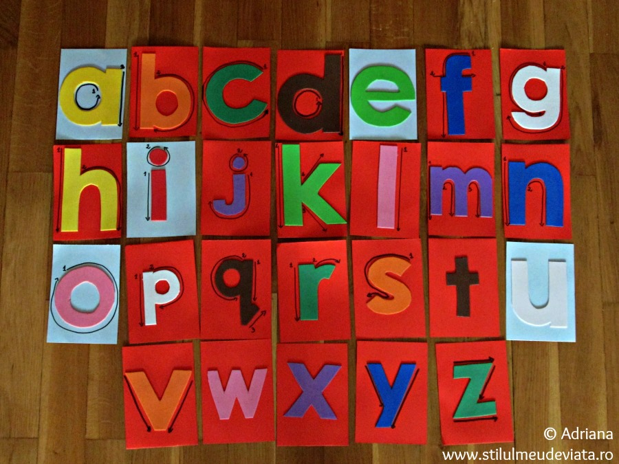 litere tactile mici