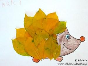 arici din frunze