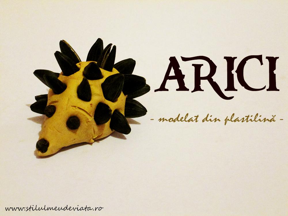arici modelat din plastilină
