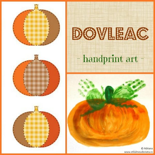 dovleac, handprint art