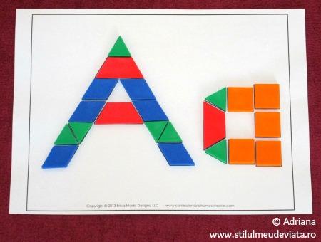 tangram litera a