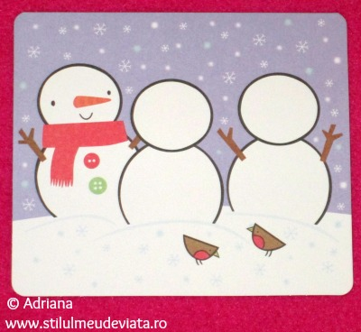 Sticker Christmas Card