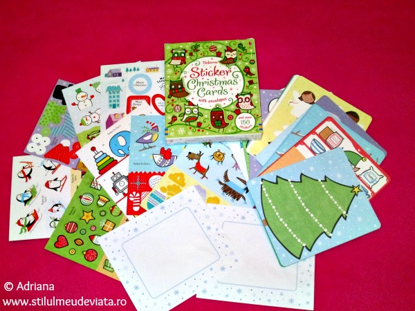Sticker Christmas Cards with envelopes