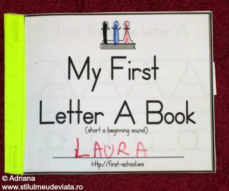 my first letter a book