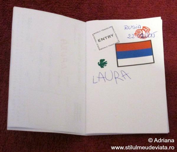 pasaport cu stampila Rusia