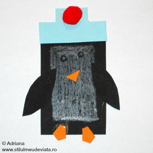 pinguin in forma de dreptunghi