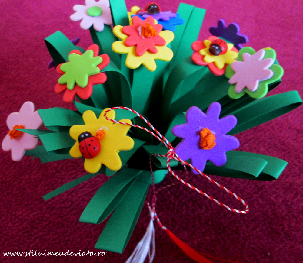 buchet de flori mărțișor