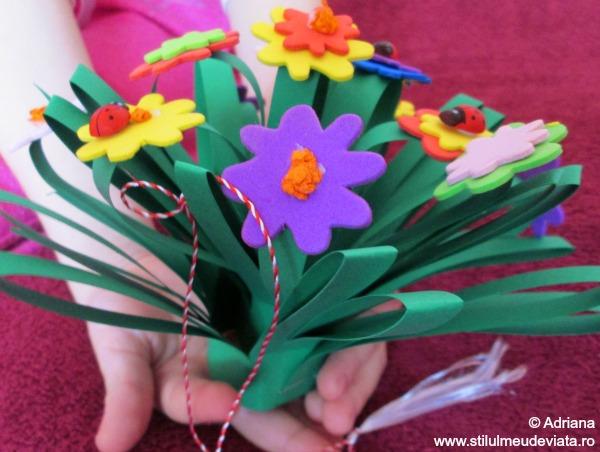 martisor buchet de flori
