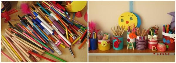 organizarea creioanelor si cariocilor