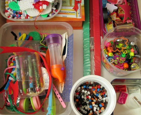 organizarea materialelor de craft