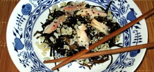 salata de alge cu macrou afumat