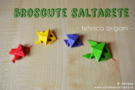 broscute saltarete, tenica origami