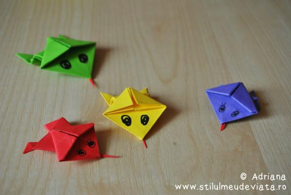 broscute saltarete, tehnica origami