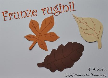 frunze ruginii din hartie cartonata